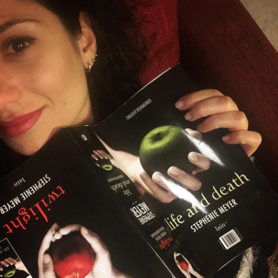 Agnese (Snow_white2.0) con la sua copia di Life and Death